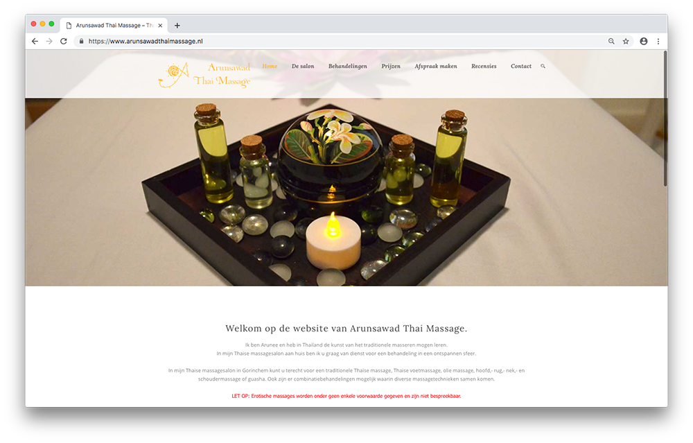 Website Arunsawad Thai Massage