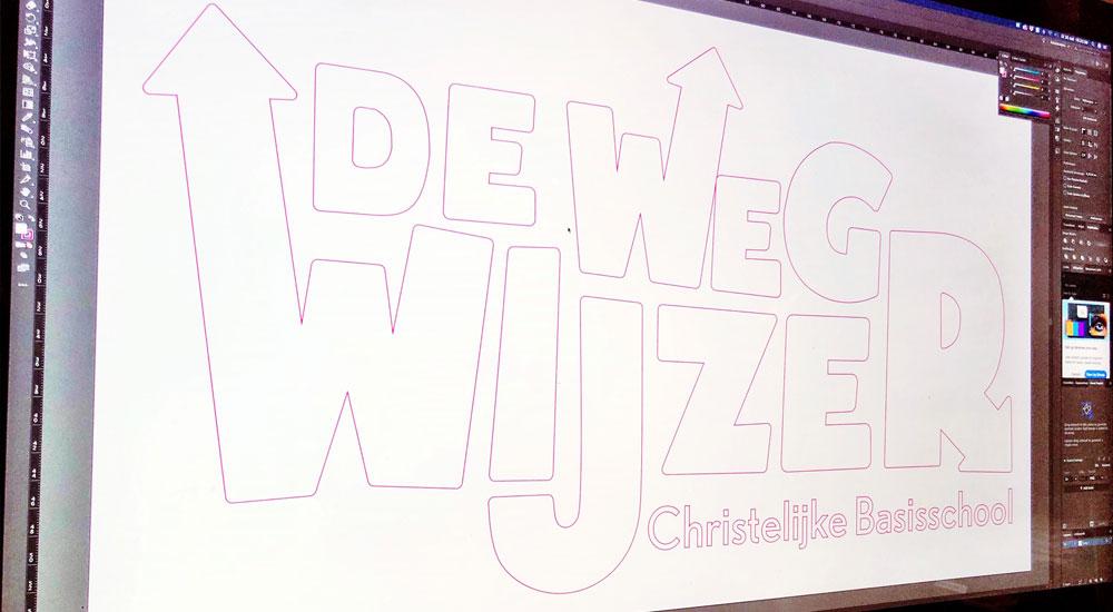Digitaal ontwerp De Wegwijzer stickers